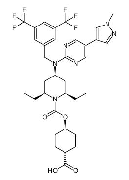 吡唑-4-基)-2-嘧啶基]氨基]-2,6-二乙基-1-哌啶羧酸 反式-4-羧基环己