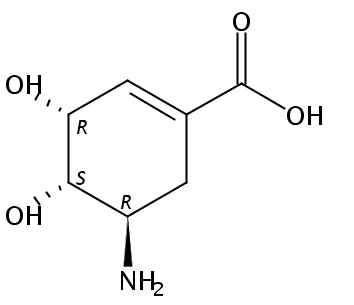 (3r,4s,5r)-5-amino-3,4-dihydroxycyclohexene-1-carboxylic acid