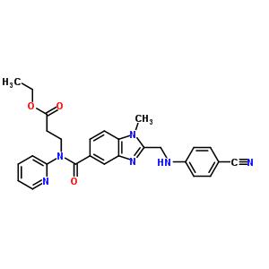 N-[[2-[[(4-氰基苯)胺]甲基]-1甲基-1H-5-苯并咪唑]羰基]3-氨基苯酰基]N-2-吡啶基-b-丙氨酸乙酯