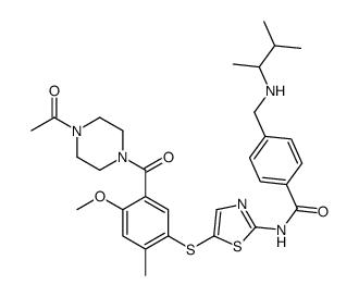 2-甲基苯基)硫基)噻唑-2-基)-4-(((3-甲基丁烷-2-基)氨基)甲基)苯甲