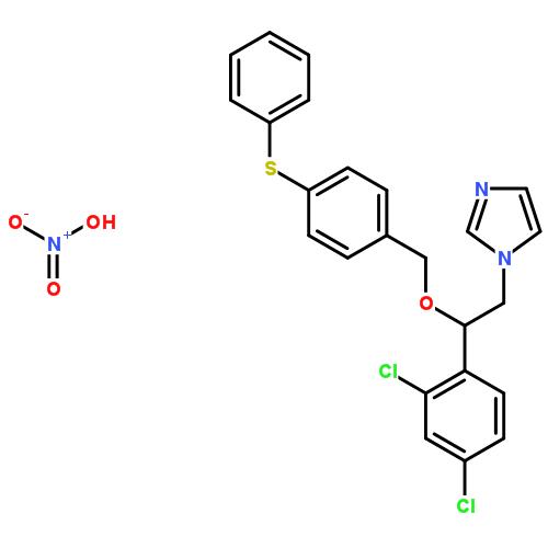 硝酸芬替康唑; 硝酸芬康唑; 1-[2-(2,4-二氯苯基)-2-[(4-苯基硫苯基)甲氧基]乙基]咪唑硝酸鹽