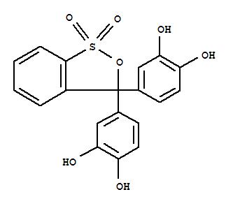 邻苯二酚紫;1,2-Benzenediol,4,4'-(1,1-dioxido-3H-2,1-benzoxathiol-3-ylidene)bis-;1,2-Benzenediol,4,4'-(3H-2,1-benzoxathiol-3-ylidene)bis-, S,S-dioxide; Pyrocatechol violet(6CI); Pyrocatechol, 4,4'-(3H-2,1-benzoxathiol-3-ylidene)di-, S,S-dioxide(8CI); 3H-2,1-Benzoxathiole, 1,2-benzenediol deriv.; 3H-2,1-Benzoxathiole,3,3-bis(3,4-dihydroxyphenyl)-, 1,1-dioxide; Catechol violet; NSC 8805; PKF;Pyrocatechin sulfonephthalein; Pyrocatechin violet; Pyrocatecholsulfonephthalein;儿茶酚紫;邻苯二酚紫/儿茶酚紫/邻苯二酚磺酞/焦儿茶酚紫/儿茶酚磺酞/二茶酚紫/邻二酚磺酞;