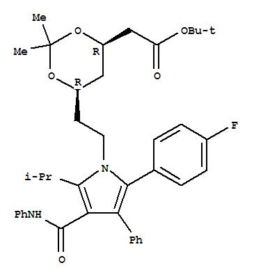 (4R-cis)-6-[2-[2-(4-氟苯基)-5-(1-异丙基)-3-苯基-4-[(苯胺)羰基]-1H-吡咯-1-基]乙基]-2,2-二甲基-1,3-二氧六环-4-乙酸叔丁酯