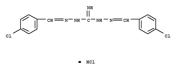 Robenidine HCl;Carbonimidicdihydrazide, bis[(4-chlorophenyl)methylene]-, monohydrochloride (9CI);Guanidine, 1,3-bis[(p-chlorobenzylidene)amino]-, monohydrochloride (8CI);1,3-Bis[(p-chlorobenzylidene)amino]guanidine monohydrochloride;Cycostat;Robenidine hydrochloride;Robenzidene;盐酸氯苯胍;酸氯苯胍盐;