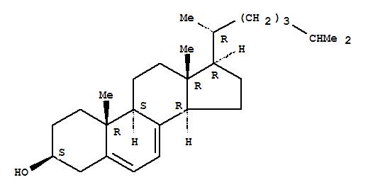 脱氢胆固醇;Cholesta-5,7-dien-3-ol,(3b)-;脱氢胆固醇;Cholesta-5,7-dien-3b-ol (8CI); (3b)-Cholesta-5,7-dien-3-ol;7,8-Didehydrocholesterol; 7-Dehydrocholesterin; 7-Dehydrocholesterol; Cholesterol,7-dehydro-; Dehydrocholesterol; NSC 18159; Provitamin D3; D5,7-Cholestadien-3b-ol; D7-Cholesterol;脱氢胆固醇;
