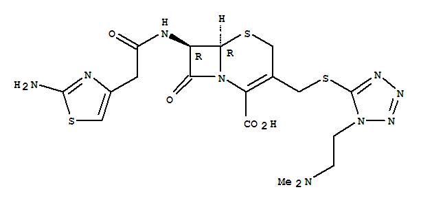 61622-34-2 (头孢替安) 的分子结构