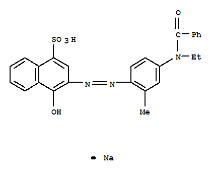 酸性艳红 E-B;1-Naphthalenesulfonicacid, 3-[2-[4-(benzoylethylamino)-2-methylphenyl]diazenyl]-4-hydroxy-, sodiumsalt (1:1);1-Naphthalenesulfonicacid, 3-[[4-(benzoylethylamino)-2-methylphenyl]azo]-4-hydroxy-, monosodium salt(9CI); C.I. Acid Red 6 (7CI); C.I. Acid Red 6, monosodium salt (8CI); BrilliantFast Red SB; C.I. 14680; Euramina Red 6; Optamine Red B; Suminol Fast Red B;Suminol Fast Red B Conc.; Supramine Red B; Tertracid Supra Red B;酸性红6;