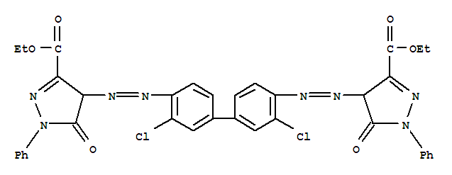 1H-Pyrazole-3-carboxylicacid,4,4'-[(3,3'-dichloro[1,1'-biphenyl]-4,4'-diyl)bis(2,1-diazenediyl)]bis[4,5-dihydro-5-oxo-1-phenyl-,3,3'-diethyl ester;1H-Pyrazole-3-carboxylicacid,4,4'-[(3,3'-dichloro[1,1'-biphenyl]-4,4'-diyl)bis(azo)]bis[4,5-dihydro-5-oxo-1-phenyl-,diethyl ester (9CI); 2-Pyrazoline-3-carboxylic acid,4,4'-(3,3'-dichloro-4,4'-biphenylylenebisazo)bis[5-oxo-1-phenyl-, diethyl ester(6CI); C.I. Pigment Red 38 (7CI,8CI); Benzidine Red; C.I. 21120; Dainichi FastRed BL; Fanchon Red R 6227; Irgalite Fast Red PY; Irgaplast Red P; Lionol RedB; NSC 16093; Piper Red; Plasticone Red 10457; Pyrazolone Red; Pyrazolone Red(Yellowish) R-6258; Pyrazolone Red B Toner; Pyrazolone Red Y; Rubber Fast RedB; Rubber Fast Red BA; Sanyo Pyrazolone Red; Silogomma Fast Red B; SilotermoRed B; Symuler Fast Pyrazolone Red B; Symuler Fast Pyrazolone Red BE; SymulerFast Pyrazolone Red BT; Vulcan Fast Red B; Vulcan Fast Red BA; Vulcan Fast RedBA-ND; Vulcan Fast Red BN;颜料红38;
