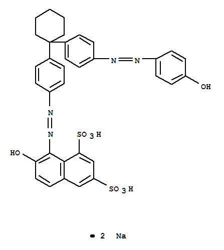 弱酸性橙GS;1,3-Naphthalenedisulfonicacid,7-hydroxy-8-[2-[4-[1-[4-[2-(4-hydroxyphenyl)diazenyl]phenyl]cyclohexyl]phenyl]diazenyl]-,sodium salt (1:2);1,3-Naphthalenedisulfonicacid,7-hydroxy-8-[[4-[1-[4-[(4-hydroxyphenyl)azo]phenyl]cyclohexyl]phenyl]azo]-,disodium salt (9CI); Acid Brilliant Orange GS; Acid Orange 33; Acid Orange GS;Acid orange 2R; BRYtracid Fast Orange GS; Best Acid Milling Orange GSF; C.I. 24780;C.I. Acid Orange 33; Coomassie Fast Orange G; Covanyl Orange FG; Dycosweak AcidOrange 2R; Kenamide Orange K 2R; Lecotan Orange GL; Levanol Fast Orange GS;Nylomine Acid Orange C 2R; Nylomine Acid Orange P 2R; Nylomine Orange C 2R;Supranol Fast Orange GS; Telon Fast Orange G; Triacid Fast Orange GS; VondamolFast Orange GS;