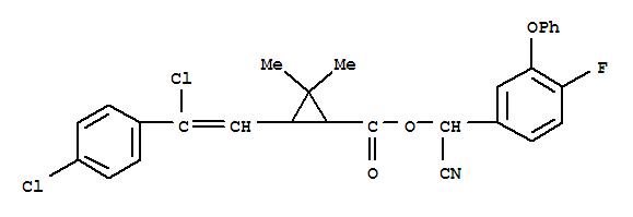 Cyclopropanecarboxylicacid, 3-[2-chloro-2-(4-chlorophenyl)ethenyl]-2,2-dimethyl-,cyano(4-fluoro-3-phenoxyphenyl)methyl ester;Bayticol;Bayticol Pour-on; Bayvarol; FCR 2769; Flumethrin;氟氯苯菊酯;