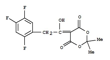5-[1-羟基-2-(2,4,5-三氟苯基)亚乙基]-2,2-二甲基-1,3-二氧六环-4,6-二酮