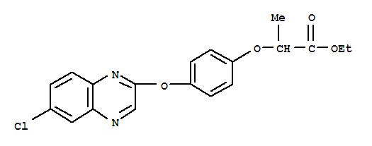 喹禾灵;Propanoic acid,2-[4-[(6-chloro-2-quinoxalinyl)oxy]phenoxy]-, ethyl ester;Assure; DPX6202; DPX-Y 6202; DPX-Y 6202-3; Ethyl 2-[4-(6-chloro-2-quinoxalyloxy)phenoxy]propionate;Miura; NCI 96683; Quinofop-ethyl; Quizalofop-ethyl; Targa;Xylofop-ethyl;