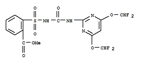 Benzoic acid,2-[[[[[4,6-bis(difluoromethoxy)-2-pyrimidinyl]amino]carbonyl]amino]sulfonyl]-,methyl ester;Beacon; CGA136872; Primisulfuron-methyl; Tell;氟氯磺隆;甲基氟嘧磺隆;