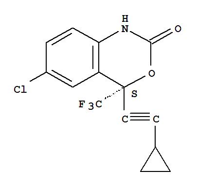 艾法韦瑞;艾法韦瑞;2H-3,1-Benzoxazin-2-one,6-chloro-4-(cyclopropylethynyl)-1,4-dihydro-4-(trifluoromethyl)-, (4S)- (9CI);2H-3,1-Benzoxazin-2-one,6-chloro-4-(cyclopropylethynyl)-1,4-dihydro-4-(trifluoromethyl)-, (S)-;DMP 266;2H-3,1-Benzoxazin-2-one, 6-chloro-4-(cyclopropylethynyl)-1,4-dihydro-4-(trifluoromethyl)-, (4S)-;Sustiva;(4S)-6-Chloro-4-(cyclopropylethynyl)-1,4-dihydro-4-(trifluoromethyl)-2H-3,1-benzoxazin-2-one;Stocrin;(S)-6-Chloro-4-(cyclopropylethynyl)-1,4-dihydro-4-(trifluoromethyl)-2H-3,1-benzoxazin-2-one;艾法韦瑞;依法韦仑;依非韦伦;依法维仑;依法韦伦;艾法韦仑;