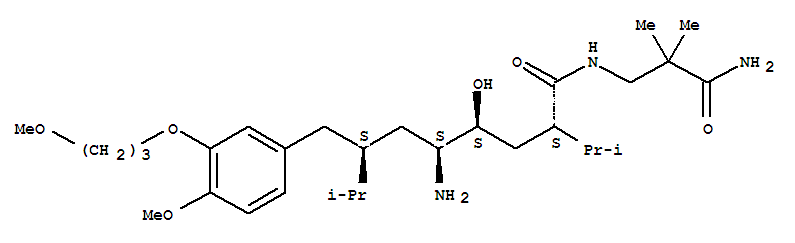 阿利克仑; (2S,4S,5S,7S)-5-氨基-N-(2-氨基甲酰基-2-甲基丙基)-4-羟基-2-异丙基-7-[4-甲氧基-3-(3-甲氧基丙氧基)苄基]-8-甲基壬酰胺
