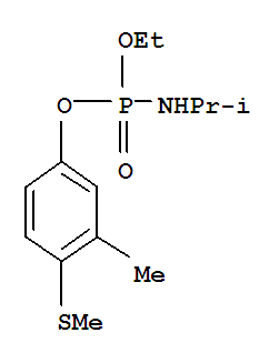 Phosphoramidicacid, N-(1-methylethyl)-, ethyl 3-methyl-4-(methylthio)phenyl ester;Phosphoramidicacid, (1-methylethyl)-, ethyl 3-methyl-4-(methylthio)phenyl ester (9CI);Phosphoramidic acid, isopropyl-, ethyl 4-(methylthio)-m-tolyl ester (8CI); B68138; BAY 68138; Bayer 68138; Ethyl 3-methyl-4-(methylthio)phenyl(1-methylethyl)phosphoramidate; Ethyl 4-(methylthio)-m-tolylisopropylphosphoramidate; Fenamifos; Fenamiphos; Fenamithion; Nemacur; NemacurP; Phenamiphos;灭线灵;