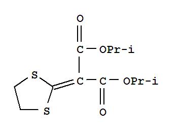 稻瘟灵;Isoprothiolane;稻瘟灵乳油;Isoprothiolane [BSI:ISO];Propanedioic acid, 1,3-dithiolan-2-ylidene-, bis(1-methylethyl) ester;1,3-Dithiolan-2-ylidenepropanedioic acid, bis(1-methylethyl) ester;Fujione;Fudiolan;Di-isopropyl 1,3-dithiolane-2-ylidenemalonate;Bis(1-methylethyl) 1,3-dithiolan-2-ylidenepropanedioate (9CI);稻瘟灵标准溶液;