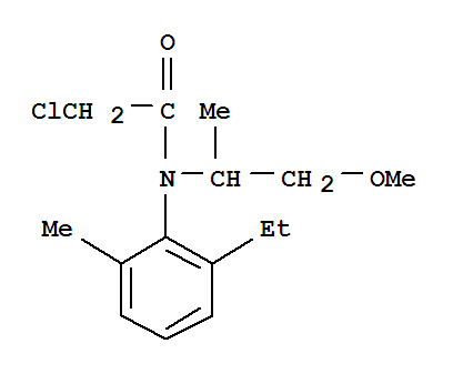 异丙甲草胺;Acetamide,2-chloro-N-(2-ethyl-6-methylphenyl)-N-(2-methoxy-1-methylethyl)-;CGA24705; Codal; Dual; Dual 720EC; Dual 960 EC; Dual II; Dual Magnum; Dual Triple;Jindual; Metetilachlor; Metoken; Metolachlor;N-(1-Methyl-2-methoxyethyl)-N-chloroacetyl-2-ethyl-6-methylaniline; Pennant;Yibingjiacaoan;