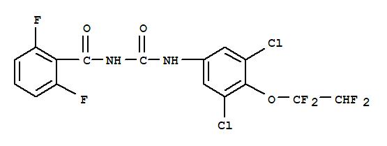 Benzamide,N-[[[3,5-dichloro-4-(1,1,2,2-tetrafluoroethoxy)phenyl]amino]carbonyl]-2,6-difluoro-;AI3-29832; Consult; Consult 100EC; Cosult; Hexaflumuron; Hexafluron; OMS 3031;Sonet; XRD 473;氟铃脲;六福隆/氟铃脲;