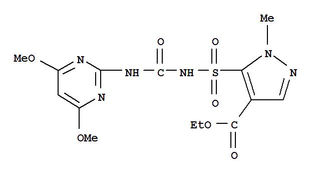 吡嘧黄隆;1H-Pyrazole-4-carboxylicacid,5-[[[[(4,6-dimethoxy-2-pyrimidinyl)amino]carbonyl]amino]sulfonyl]-1-methyl-,ethyl ester;Agreen;Pyrazosulfuron-ethyl; Sirius;吡嘧磺隆乙酯;