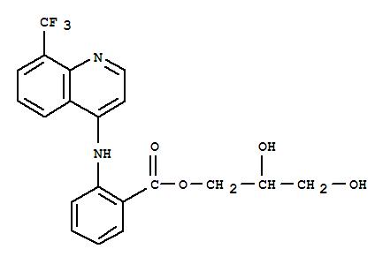Benzoic acid,2-[[8-(trifluoromethyl)-4-quinolinyl]amino]-, 2,3-dihydroxypropyl ester