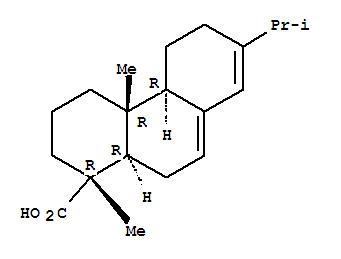 松香酸;1-Phenanthrenecarboxylicacid, 1,2,3,4,4a,4b,5,6,10,10a-decahydro-1,4a-dimethyl-7-(1-methylethyl)-,(1R,4aR,4bR,10aR)-;1-Phenanthrenecarboxylicacid, 1,2,3,4,4a,4b,5,6,10,10a-decahydro-1,4a-dimethyl-7-(1-methylethyl)-,[1R-(1a,4ab,4ba,10aa)]-; Abietic acid, (-)- (7CI);Podocarpa-7,13-dien-15-oic acid, 13-isopropyl- (8CI); (-)-Abietic acid;7,13-Abietadien-18-oic acid; Abietic acid; NSC 25149; Odomit B 10; Sylvic acid;l-Abietic acid;松香酸标准品|对照品;