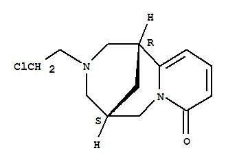 1,5-Methano-8H-pyrido[1,2-a][1,5]diazocin-8-one,3-(2-chloroethyl)-1,2,3,4,5,6-hexahydro-, (1R,5S)-;1,5-Methano-8H-pyrido[1,2-a][1,5]diazocin-8-one,3-(2-chloroethyl)-1,2,3,4,5,6-hexahydro-, (1R)-; Alternidine (8CI); Cytisine,N-(2-chloroethyl)- (6CI,7CI); N-(2-Chloroethyl)cytisine;