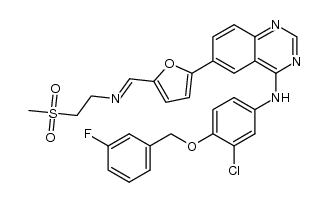 N-(3-chloro-4-(3-fluorobenzyloxy)phenyl)-6-(5-((2-(methylsulfonyl)ethylimino)methyl)furan-2-yl)quinazolin-4-amine